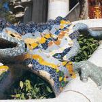 salamandra del gaudi en el parque güel